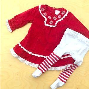Hanna Anderson holiday Christmas corduroy dress